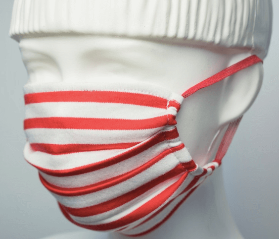 Red stripes - Balidoo Maske Rot